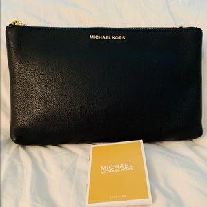Michael Kors Adele Double Zip Pebble Leather